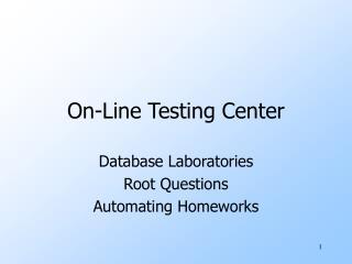 On-Line Testing Center