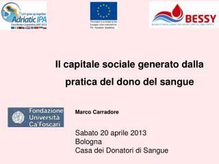 Il capitale sociale generato dalla pratica del dono del sangue
