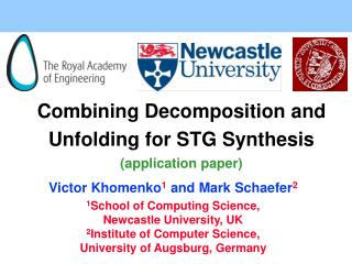 Combining Decomposition and Unfolding for STG Synthesis (application paper)