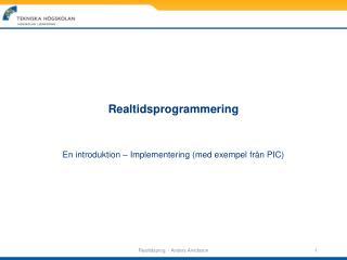 Realtidsprogrammering