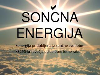 SONCNA ENERGIJA