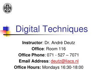 Digital Techniques