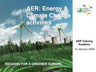 AER: Energy & Climate Change activities