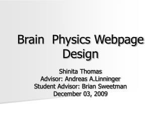 Brain  Physics Webpage  Design