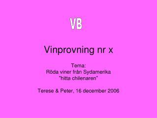 Vinprovning nr x
