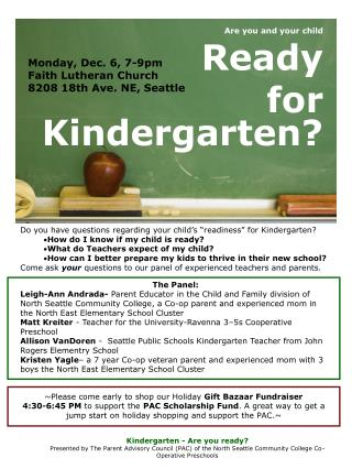 Are you and your child Ready for Kindergarten?