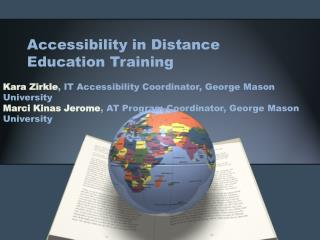 Accessibility in Distance Education Training
