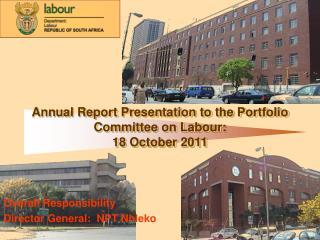Overall Responsibility Director General:  NPT Nhleko