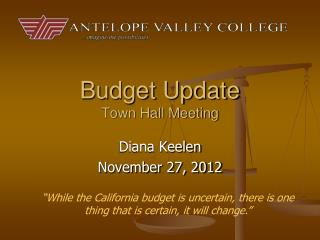 Budget Update Town Hall Meeting