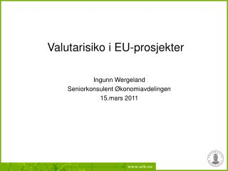 Valutarisiko i EU-prosjekter