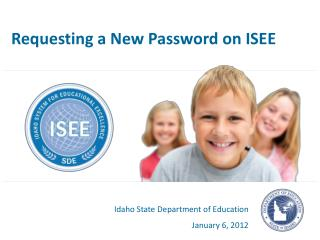 Requesting a New Password on ISEE
