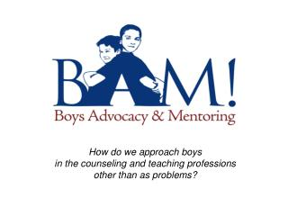How do we approach boys in the counseling and teaching professions other than as problems?