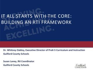 IT ALL STARTS WITH THE CORE:  BUILDING  AN RTI  FRAMEWORK