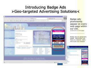 Introducing Badge Ads ? Geo-targeted Advertising Solutions ?