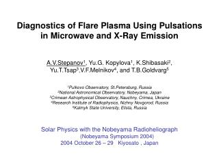 Diagnostics of Flare Plasma Using Pulsations in Microwave and X-Ray Emission