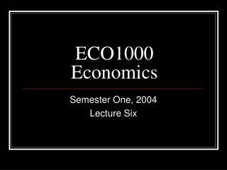 ECO1000 Economics