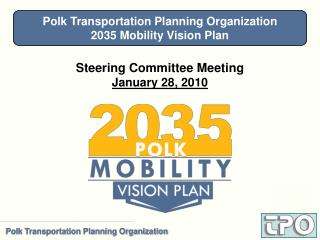 Steering Committee Meeting January 28, 2010