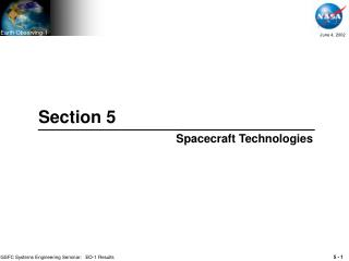 Section 5 Spacecraft Technologies