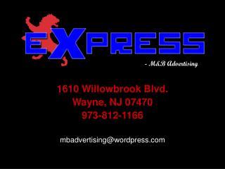 1610 Willowbrook Blvd. Wayne, NJ 07470 973-812-1166 mbadvertising@wordpress