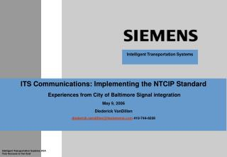 ITS Communications: Implementing the NTCIP Standard