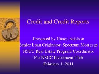 Credit and Credit Reports