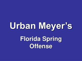 Urban Meyer's