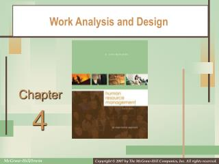 Work Analysis and Design