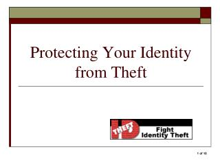 Protecting Your Identity from Theft