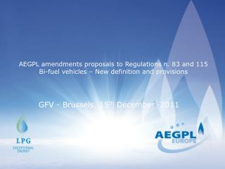 GFV - Brussels, 15 th  December  2011
