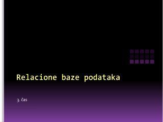 Relacione baze podataka