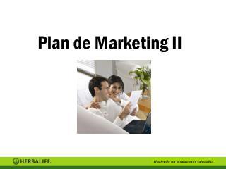 Plan de Marketing II