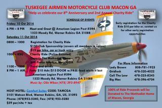 TUSKEGEE AIRMEN MOTORCYCLE CLUB MACON GA