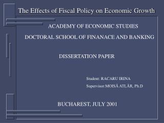 ACADEMY OF ECONOMIC STUDIES
