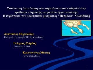 Αναστάσιος Μιχαηλίδης Καθηγητής Εφαρμογών ΤΕΙ Δ. Μακεδονίας Γεώργιος Σιάρδος Καθηγητής Α.Π.Θ.