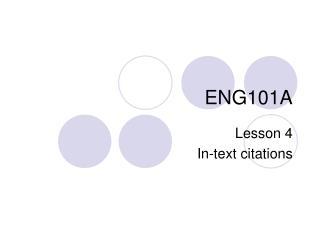 ENG101A