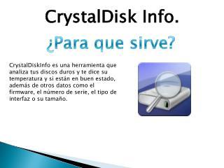 CrystalDisk Info.