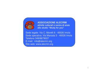 Sede legale: Via C. Morelli 8 - 40026 Imola Sede operativa: Via Marsala 5 - 40026 Imola