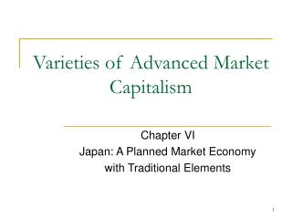Varieties of Advanced Market Capitalism