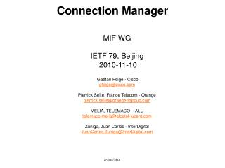 Connection Manager