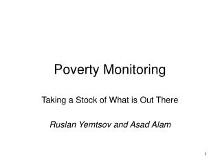 Poverty Monitoring