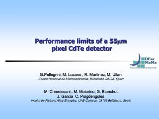 Performance limits of a 55 m m  pixel CdTe detector