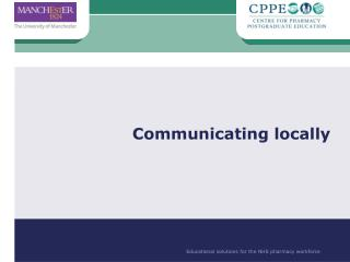 Communicating locally
