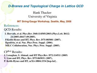D-Branes and Topological Charge in Lattice QCD