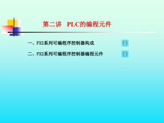 第二讲   PLC 的编程元件
