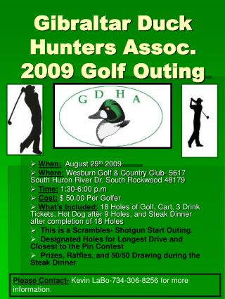 Gibraltar Duck Hunters Assoc. 2009 Golf Outing