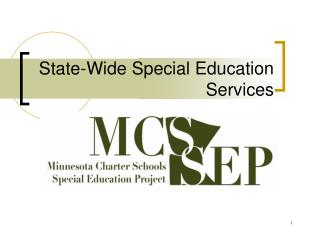State-Wide Special Education Services