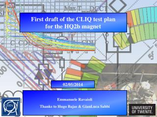 First draft of the CLIQ test plan for the HQ2b magnet