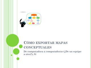 Cómo exportar mapas conceptuales