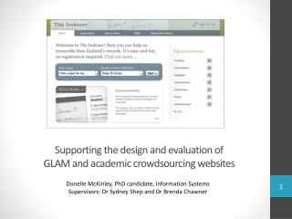 Supporting  the design and evaluation of GLAM and academic crowdsourcing websites
