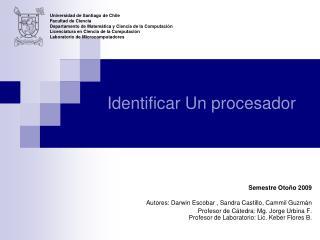 Identificar Un procesador